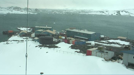 View from Palmer Station on Anvers Island in the Antarctic, where Dr. Countway will be doing his research work.