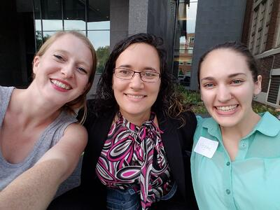 Heidi, Maria, and Megan loved sharing their passion for science at the TechGirlz workshop