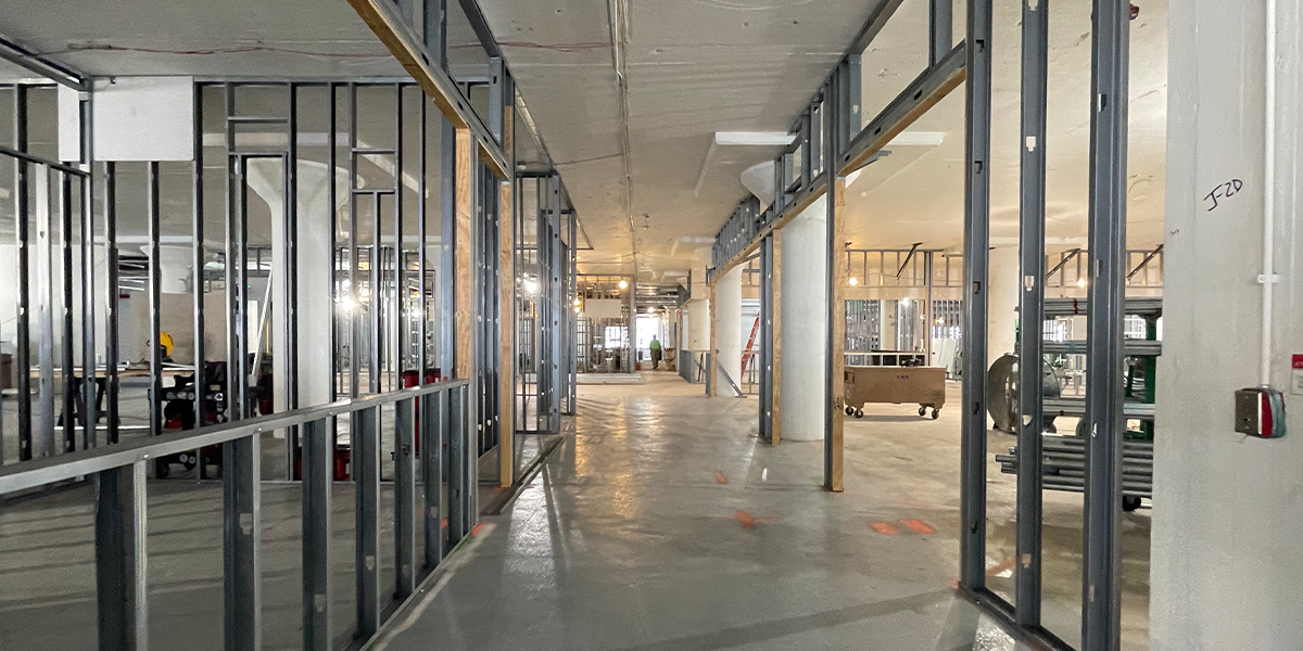 Construction of Biomeme Headquarters