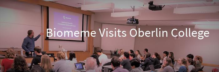 Biomeme Visits Oberlin College